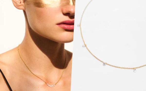 ZARA新字母项链超美!925纯银材质更精致、项链跟手环都想拥有!