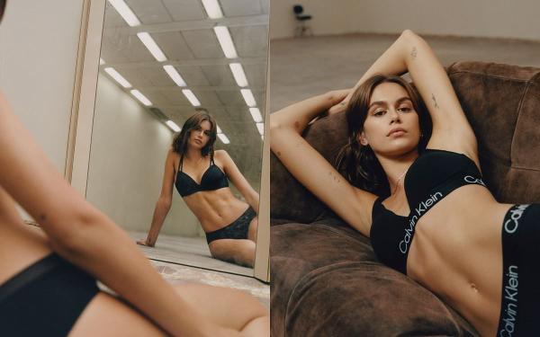 BLACKPINK JENNIE 穿着Calvin Klein新形象曝光!「蚂蚁腰+美胸」太美太辣!