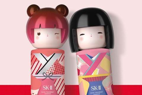 超可爱神仙水!SK-II青春露「春日娃娃和服限定版」焕新上市,精致和服结合暖色系色块线条,这波必须收藏!