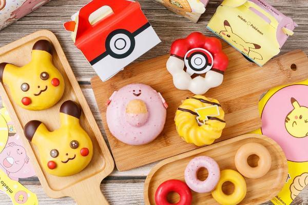 Mister Donut宝可梦造型甜甜圈:精灵球波堤、吉利蛋,多款外围商品同步开售