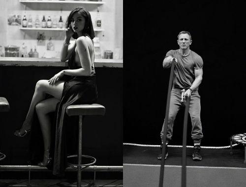 电影《007:无暇赴死》北美提前场创纪录 曝多张幕后写真