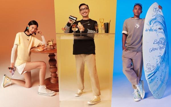 奶茶色球鞋推荐:Converse厚底帆布『Chuck70燕麦牛奶』双色拼接太美、快入手!