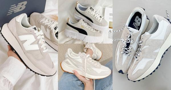 领五倍券买两双!2022必备『奶油色球鞋TOP7』Nike、NB、Vans…长腿新款一次看!