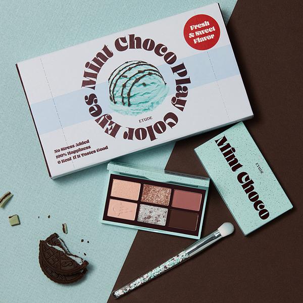 ETUDE重量级新品全新上市 ! 来一盒#薄荷巧克力眼彩盘,再接着来参加#ETUDE睫力赛吧 !