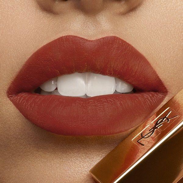 YSL奢华缎面丝绒唇膏诱惑棕红系列,红的绝对强势探索棕的极致温柔 !