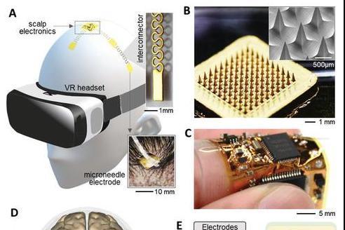 科学家开发出柔性无线脑机接口:外接在头皮上,可通过想象来打游戏