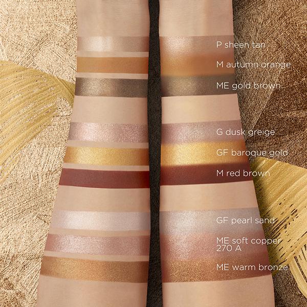 植村秀前所未有的复古奢华9色眼影盘琥珀金棕,打造2021最潮暖色妆,能够驾驭不同场合、不同妆感!