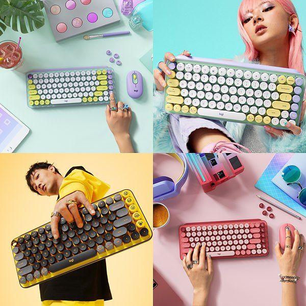 超可愛!Logitech POP KEYS EMOJI無線機械式鍵盤:復古打字機風格、三款顏色供你選擇