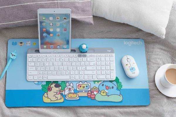 Logitech联名人气治愈萌主,发布「键鼠礼盒组」加赠键盘挂件太Q了!