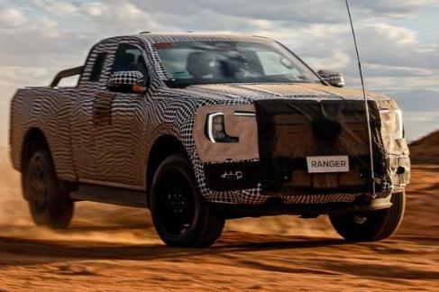 近期将发布,全新一代福特Ranger预告图爆出
