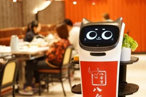 普渡机器人亮相2021花椒大连餐饮发展论坛