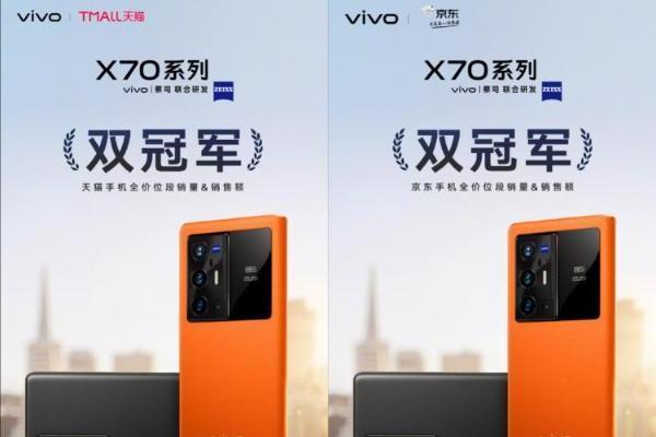 双冠军霸榜 vivo X70系列首销势如破竹