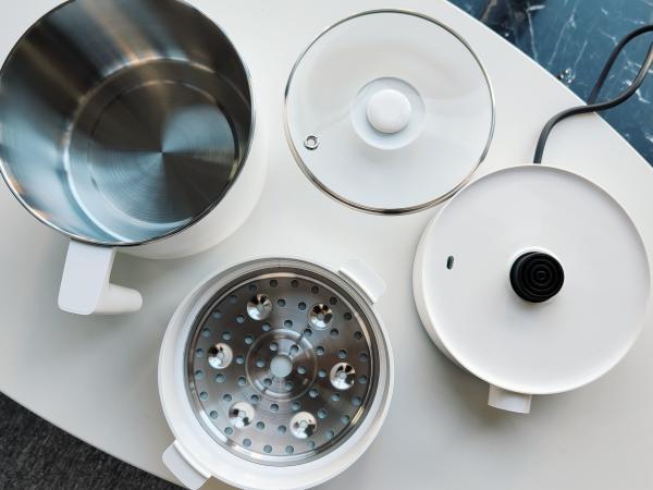 米家智能多功能蒸煮锅开箱:吃一碗好饭 很重要
