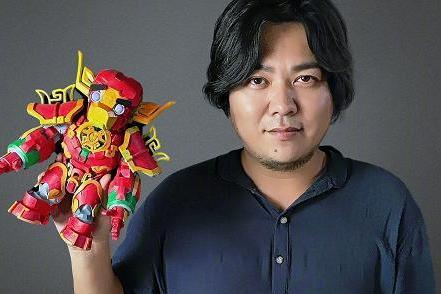 让世界看到中国的机器人艺术 100张中国脸 孙世前