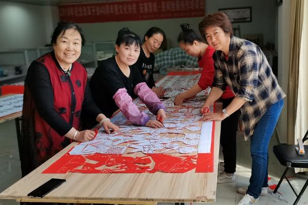 """剪纸、农民画、腰鼓,陕西安塞""""幸福圆梦""""有技艺"""