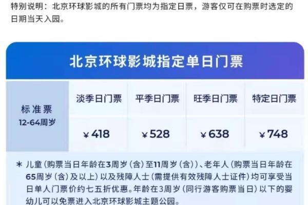 北京环球度假区票价公布 9月14日起正式向公众发售