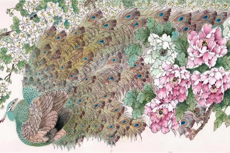 展览 | 繁花朵朵,雀鸟如生,国庆来草堂看谭昌镕花鸟画展