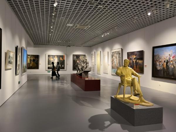 艺术|江苏省庆祝建党百年美术书法精品展在南京大学展出