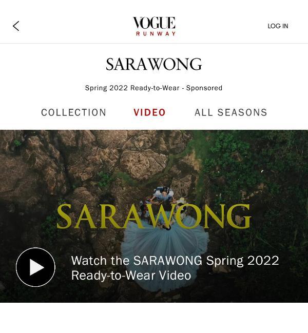 SARAWONG S/S 2022米兰时装周系列发布:苗韵之色