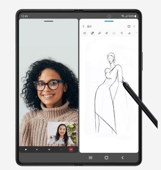 左手三星Galaxy Z Fold3 5G右手专属S Pen,这就是高效的商务精英范儿