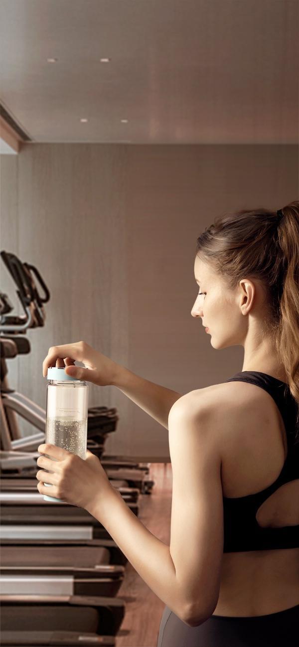 Master Kitchen气弹款气泡水杯,三重浓度丰富健康水生活