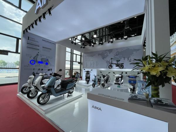 爱玛引擎MAX产品在东博会大方光彩,爱玛品质电动车树新标