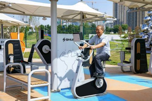 助力全民健身发展:舒华体育助力西安灞河打造全民健身园区