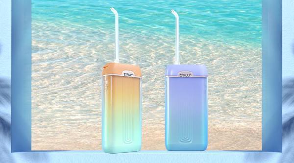 英普利新品MS11冲牙器上市,晴海和镜湖两种渐变色,4支专业喷嘴护理