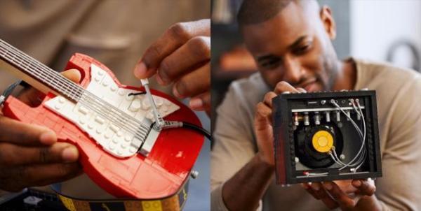 准备好调大音量 迎接全新乐高IDEAS FenderStratocaster吉他套装吧!