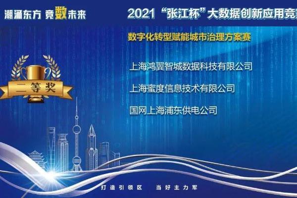 """""""张江杯""""大数据创新应用竞赛落幕 蜜度""""城感通""""用大数据赋能城市治理升级"""