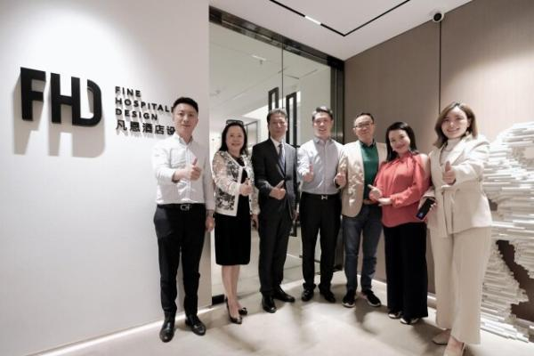 深圳酒店业商会会长黄俭先生一行莅临FHD交流指导并给予高度肯定!