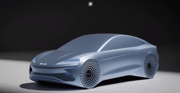 比亚迪e平台3.0概念车ocean-X亮相