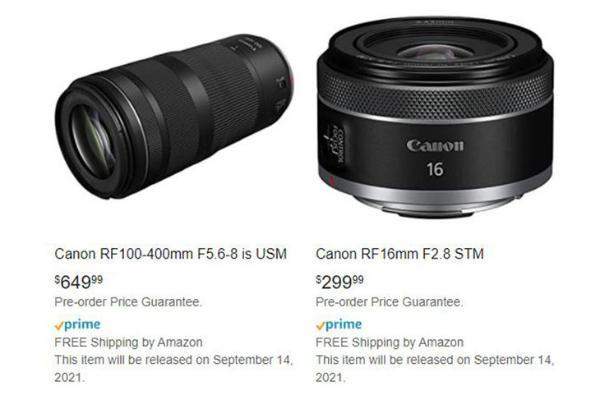 佳能一长一短两支廉价镜头随EOS R3一同发布?