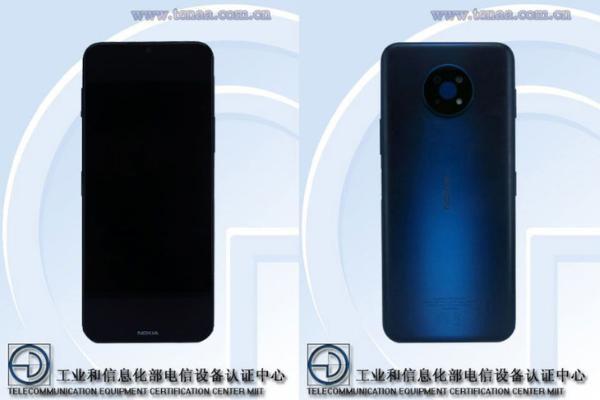 诺基亚G50 5G手机入网,采用6.82英寸显示屏