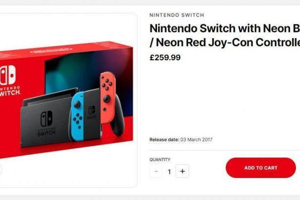 任天堂确认英国、欧盟市场Switch标准版价格下调