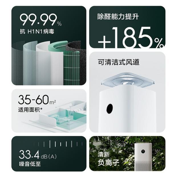 小米推出新款空气净化机,售价1299元