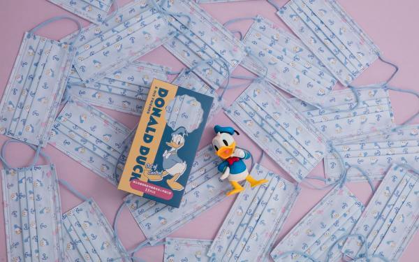 迪斯尼控请注意!Grace Gift唐老鸭口罩限量1500盒,绝美宝宝蓝超疗愈!