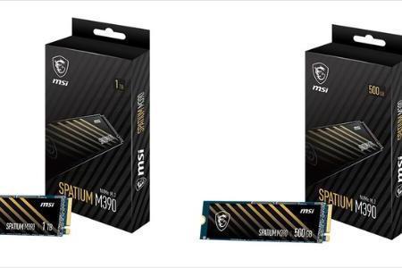 微星发布Spatium M390系列M.2固态硬盘