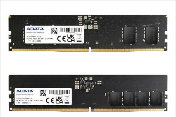 威刚推出DDR5-4800内存 单条容量8G起步