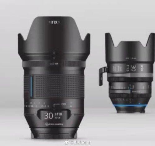 大光圈新选择 Irix发布全新30mm f1.4对面镜头