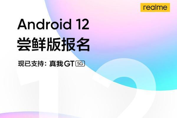 真我GT 5G开启Android 12尝鲜版报名